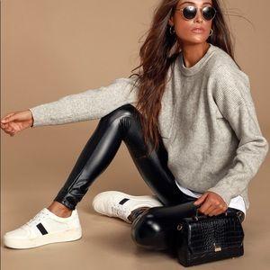 Lulu's Rock Music Black Vegan Leather Leggings